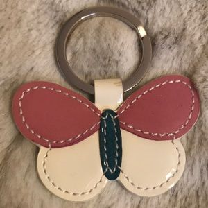 COACH PATENT LEATHER BUTTERFLY KEY RING